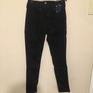 Gap black true skinny jeans